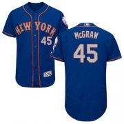 Wholesale Cheap Mets #45 Tug McGraw Royal/Gray Flexbase Authentic Collection Stitched MLB Jersey