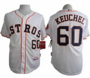 Wholesale Cheap Astros #60 Dallas Keuchel White Cool Base Stitched MLB Jersey