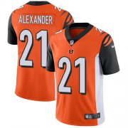 Wholesale Cheap Nike Bengals #21 Mackensie Alexander Orange Alternate Youth Stitched NFL Vapor Untouchable Limited Jersey