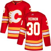 Wholesale Cheap Adidas Flames #28 Elias Lindholm Red Home Authentic Stitched NHL Jersey