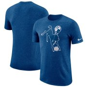 Wholesale Cheap Indianapolis Colts Nike Marled Historic Logo Performance T-Shirt Heathered Royal