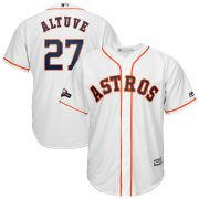 Wholesale Cheap Houston Astros #27 Jose Altuve Majestic 2019 Postseason Official Cool Base Player Jersey White