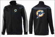 Wholesale Cheap NFL Miami Dolphins Team Logo Jacket Black_2