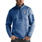 Wholesale Cheap Winnipeg Jets Antigua Fortune Quarter-Zip Pullover Jacket Blue