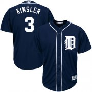 Wholesale Cheap Tigers #3 Ian Kinsler Navy Blue Cool Base Stitched Youth MLB Jersey