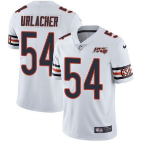Wholesale Cheap Nike Bears #54 Brian Urlacher White Men\'s 100th Season Retired Stitched NFL Vapor Untouchable Limited Jersey