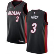 Wholesale Cheap Nike Miami Heat #3 Dwyane Wade Black NBA Swingman Icon Edition Jersey