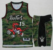 Wholesale Cheap Men's Toronto Raptors #15 Vince Carter Revolution 30 Swingman New Camo Jersey With Shorts
