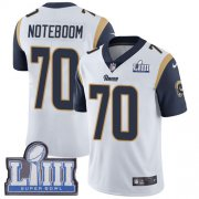Wholesale Cheap Nike Rams #70 Joseph Noteboom White Super Bowl LIII Bound Men's Stitched NFL Vapor Untouchable Limited Jersey