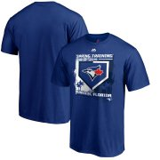 Wholesale Cheap Toronto Blue Jays Majestic 2019 Spring Training Grapefruit League Base on Ball Big & Tall T-Shirt Blue