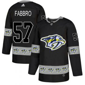 Wholesale Cheap Adidas Predators #57 Dante Fabbro Black Authentic Team Logo Fashion Stitched NHL Jersey