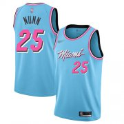 Wholesale Cheap Men's Miami Heat #25 Kendrick Nunn Blue Basketball Swingman City Edition 2019-20 Jersey