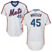 Wholesale Cheap Mets #45 Zack Wheeler White(Blue Strip) Flexbase Authentic Collection Alternate Stitched MLB Jersey