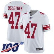 Wholesale Cheap Nike Giants #47 Alec Ogletree White Men's Stitched NFL 100th Season Vapor Limited Jersey