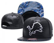 Wholesale Cheap NFL Detroit Lions Team Logo Black Snapback Adjustable Hat GS101