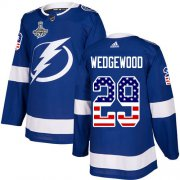 Cheap Adidas Lightning #29 Scott Wedgewood Blue Home Authentic USA Flag Youth 2020 Stanley Cup Champions Stitched NHL Jersey