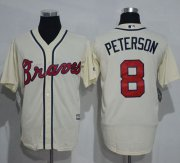 Wholesale Cheap Braves #8 Jace Peterson Cream New Cool Base Stitched MLB Jersey