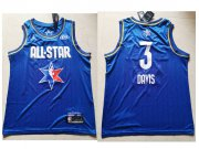 Wholesale Cheap Men's Los Angeles Lakers #3 Anthony Davis Blue Jordan Brand 2020 All-Star Game Swingman Stitched NBA Jersey