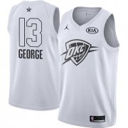 Wholesale Cheap Nike Thunder #13 Paul George White NBA Jordan Swingman 2018 All-Star Game Jersey