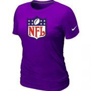 Wholesale Cheap Women's Nike NFL Logo NFL T-Shirt Purple