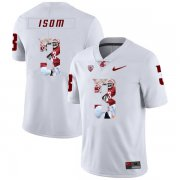 Wholesale Cheap Washington State Cougars 3 Daniel Isom White Fashion College Football Jersey