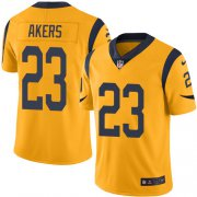 Wholesale Cheap Nike Rams #23 Cam Akers Gold Men's Stitched NFL Limited Rush Jersey