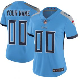 Wholesale Cheap Nike Tennessee Titans Customized Light Blue Team Color Stitched Vapor Untouchable Limited Women\'s NFL Jersey