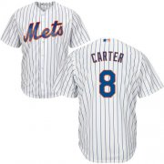 Wholesale Cheap Mets #8 Gary Carter White(Blue Strip) Cool Base Stitched Youth MLB Jersey