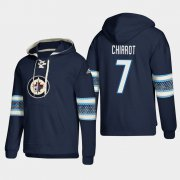 Wholesale Cheap Winnipeg Jets #7 Ben Chiarot Blue adidas Lace-Up Pullover Hoodie