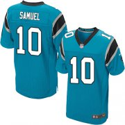 Wholesale Cheap Nike Panthers #10 Curtis Samuel Blue Alternate Men's Stitched NFL Elite Jersey