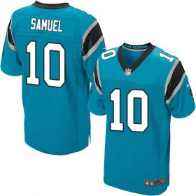 Wholesale Cheap Nike Panthers #10 Curtis Samuel Blue Alternate Men\'s Stitched NFL Elite Jersey