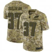 Wholesale Cheap Nike Eagles #37 Tre Sullivan Camo Men's Stitched NFL Limited 2018 Salute To Service Jersey