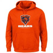 Wholesale Cheap Chicago Bears Critical Victory Pullover Hoodie Orange