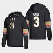 Wholesale Cheap Vegas Golden Knights #3 Brayden McNabb Black adidas Lace-Up Pullover Hoodie