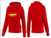 Wholesale Cheap Women's Kansas City Chiefs Logo Pullover Hoodie Red