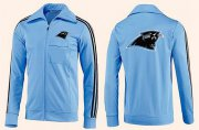 Wholesale Cheap NFL Carolina Panthers Team Logo Jacket Light Blue