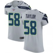 Wholesale Cheap Nike Seahawks #58 Darrell Taylor Grey Alternate Men's Stitched NFL New Elite Jersey