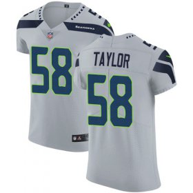Wholesale Cheap Nike Seahawks #58 Darrell Taylor Grey Alternate Men\'s Stitched NFL New Elite Jersey