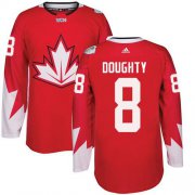 Wholesale Cheap Team CA. #8 Drew Doughty Red 2016 World Cup Stitched NHL Jersey