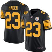 Wholesale Cheap Nike Steelers #23 Joe Haden Black Men's Stitched NFL Limited Rush Jersey