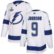 Cheap Adidas Lightning #9 Tyler Johnson White Road Authentic Youth 2020 Stanley Cup Champions Stitched NHL Jersey