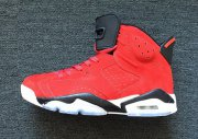 Wholesale Cheap Air Jordan 6 Retro Red Suede University Red/Black