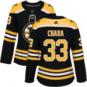 Wholesale Cheap Adidas Bruins #33 Zdeno Chara Black Home Authentic Women's Stitched NHL Jersey