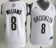 Wholesale Cheap Brooklyn Nets #8 Deron Williams Revolution 30 Swingman White Jersey