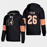 Wholesale Cheap Philadelphia Flyers #26 Christian Folin Black adidas Lace-Up Pullover Hoodie