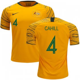 Wholesale Cheap Australia #4 Cahill Home Soccer Country Jersey