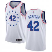 Wholesale Cheap 76ers #42 Al Horford White Basketball Swingman Earned Edition Jersey