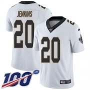 Wholesale Cheap Nike Saints #20 Janoris Jenkins White Youth Stitched NFL 100th Season Vapor Untouchable Limited Jersey