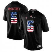 Wholesale Cheap Stanford Cardinal 5 Christian McCaffrey Black USA Flag College Football Limited Jersey