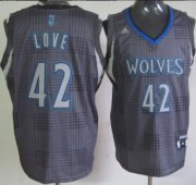 Wholesale Cheap Minnesota Timberwolves #42 Kevin Love Black Rhythm Fashion Jersey
